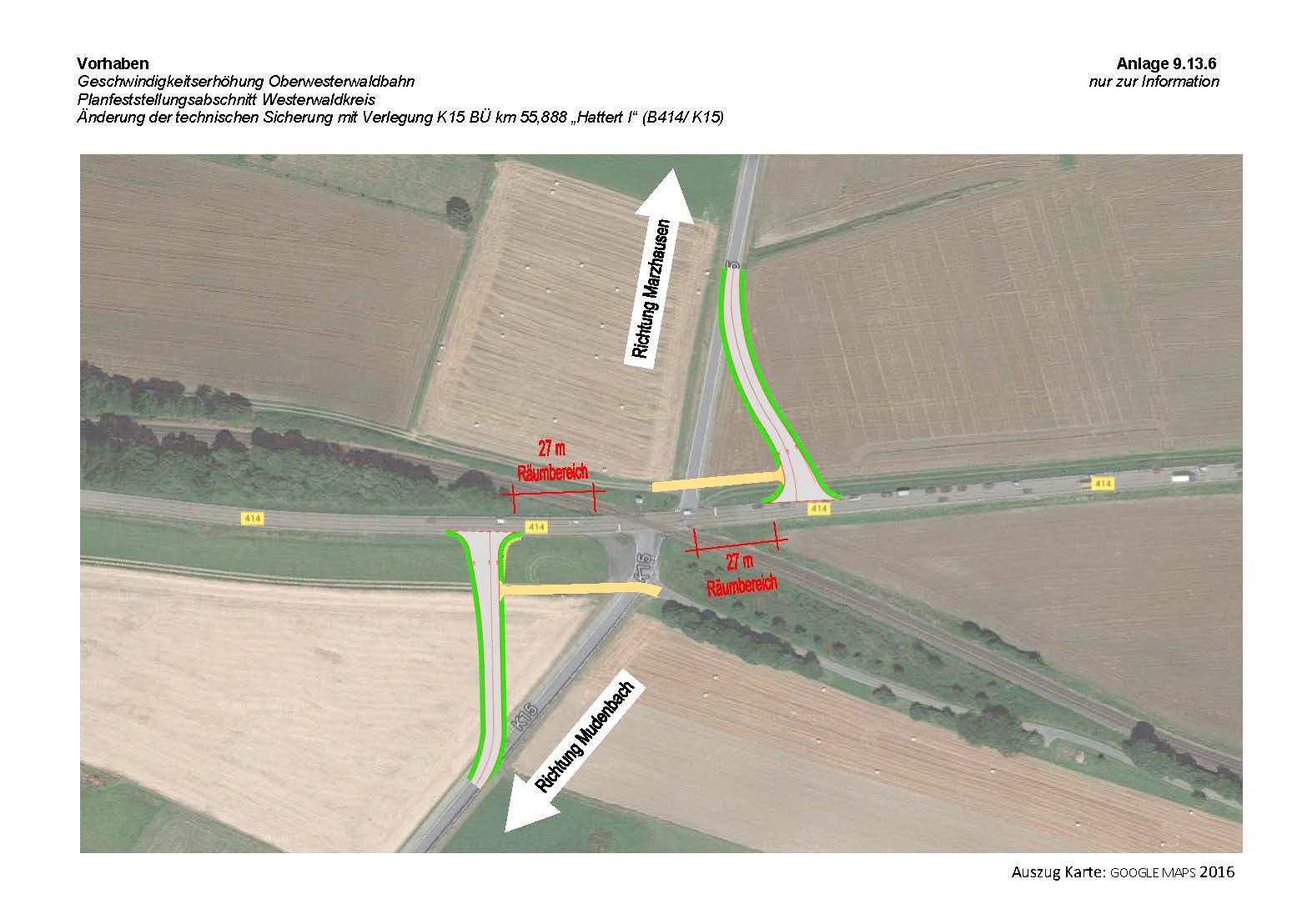 Übersicht Verlegung Kreisstraße K15